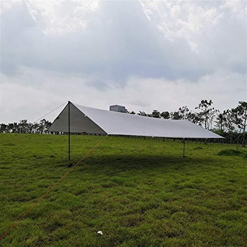 HNXCBH Ultraléger 15D Silicon Tarp Camping en Plein air Survie Abri Soleil Ombre Auvent Argent Revêtement Pergola Tente étanche Toile D'Ombrage Triangulaire (Color : 15D Gray, Size : 3 * 4M)