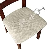 Genina Waterproof Seat Covers for Dining Room Chairs Covers Dining Chair seat...