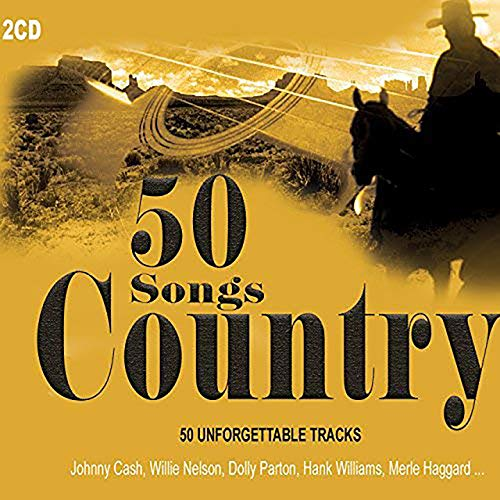 2 CD 50 Country Songs. Grandes leyendas de la música country como Johnny Cash, Kenny Rogers, Willie Nelson, Patsy Cline, Dolly Parton ...