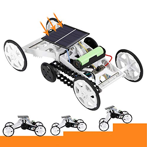JURSTON STEM Toys, Solar or Cell Powered DIY 4WD Climbing Vehicle, Science Kits for 6-12 Year Old Kids
