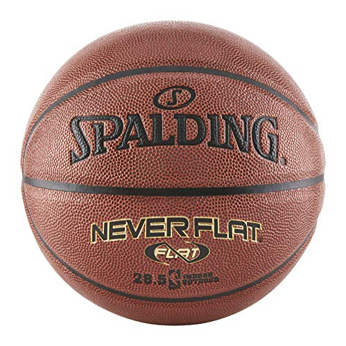 Great Deal! Spalding Never Flat Intermediate Size Basketball