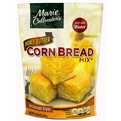 Marie Callender s CornBread Mix, Honey Butter, Just Add Water, Mix, and Bake. Makes 8 Loaf (Pack of 1)