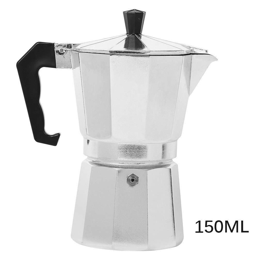 OurLeeme Moka Pot, Aluminio Espresso Latte Cafetera Tazas Percolator Filtro de café (3 Tazas): Amazon.es: Hogar