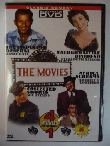Classic Comedy - 4 Movies- The Inspector General/Fatherss Little Dividend/Collected Shorts/Africa Screams