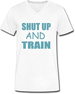 d441cbcc3fc TangChuan Women s Shut up and TRAIN2 Funny V-Neck T-Shirt