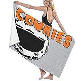chillChur-DD Bath Towel Cookie Monster Cookies Hooters Logo Mix Toalla de baño Toalla de baño Suave, Felpa, 80X130Cm