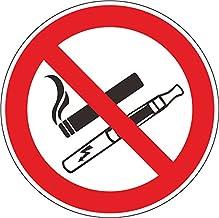 INDIGOS UG - Stickers - Veiligheid - Waarschuwing - 5x label teken - Roken verboden - Geen elektronische sigaretten - 100 ...