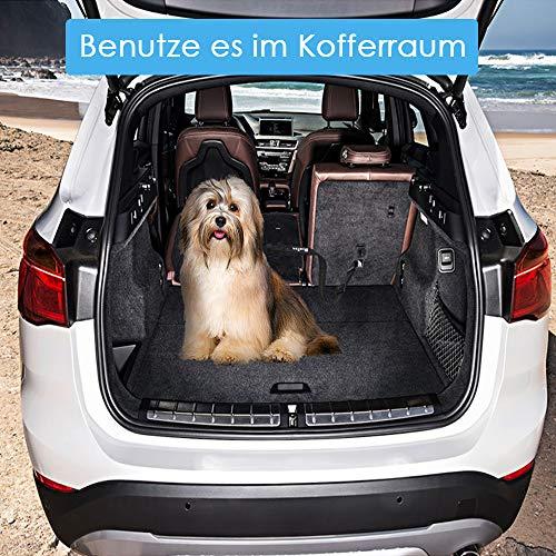 SlowTon Hunde Sicherheitsgurt Hunde-Sicherheits-Gurt fürs Auto Einstellbar Sicherheit Karabiner und Elastischer Ruckdämpfung für Alle Hunderassen und Katzen (Schwarz)