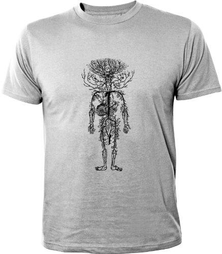 Mister Merchandise Homme Chemise T-Shirt Tree of Life, Size: L, Color: Gris