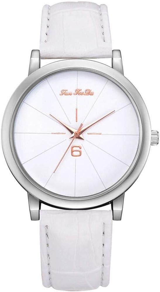 Reloj para mujer, FD161 Reloj de pulsera de cuarzo con esfera analógica de aleación de moda para negocios y ocio, adecuado para negocios, uso diario y otras ocasiones(Blanco)