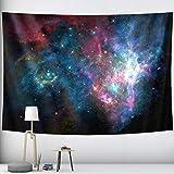 PPOU Cielo Estrellado Colgante de Pared Mandala psicodélico brujería Tapiz Hippie Bohemio Tela de Fondo Tela Colgante A7 180x200cm