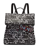 DKNY Multipurpose Fashion Backpack, Black Iconic Graffiti Tilly