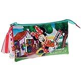 Disney Minnie Strawberry Beauty Case da Viaggio, Poliestere, Rosa, 22 cm