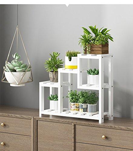 LJYHJ Blumentopf Lagerung Blumenständer Massivholz Erker Fensterbank Mini Schlafzimmer Desktop Regal Blumentopf Rahmen Garten Regal (Farbe : B)