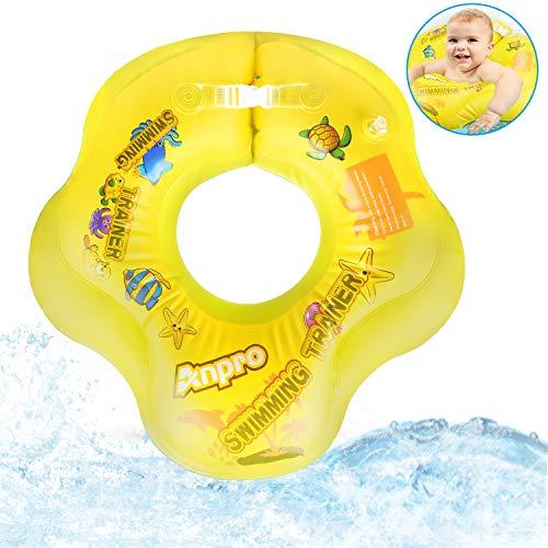 Anpro Flotador Bebé para Ayudar de natación,Flotador de axila para Bebé de 3 a 12 Meses,Flotador Inflable de Piscina