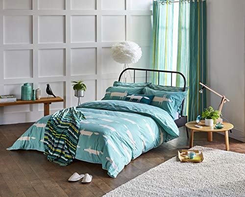 Scion Mr Fox Duvet Cover, Double, Teal