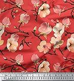 Soimoi orange Schweres Canvas Stoff Blossom Aquarell