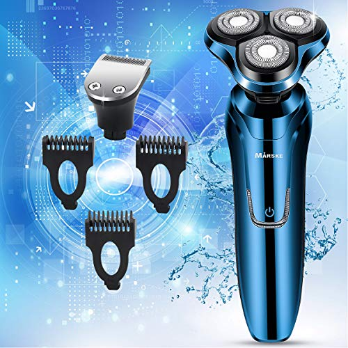 Vifycim Electric Shavers for Men Mens Electric Razor Dry Wet Waterproof Rotary Facial Shaver Portable Face Shaver Cordless Razors Travel USB Rechargeable with Hair Clipper for Shaving Man