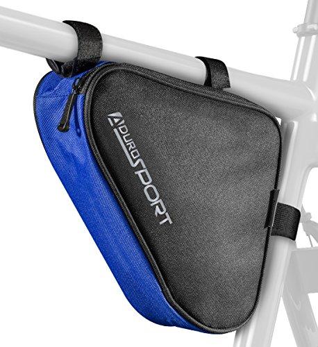 Aduro Sport Fahrrad-Aufbewahrungstasche, Dreiecks-Sattelrahmen-Tasche für Radfahren (blau)