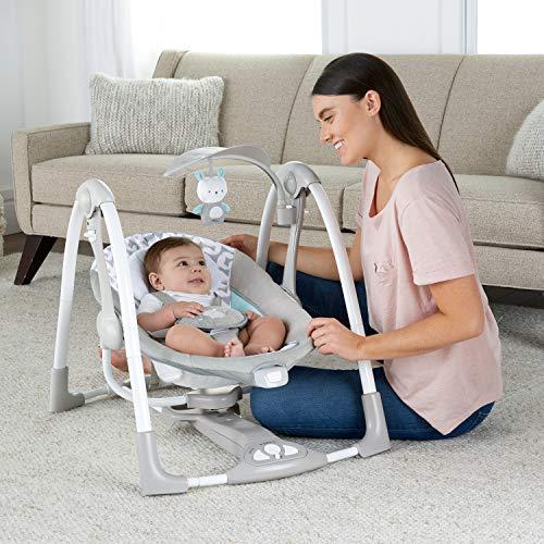 51mlgRSLPNL The Best Fully Reclined Baby Swings for 2021 Review