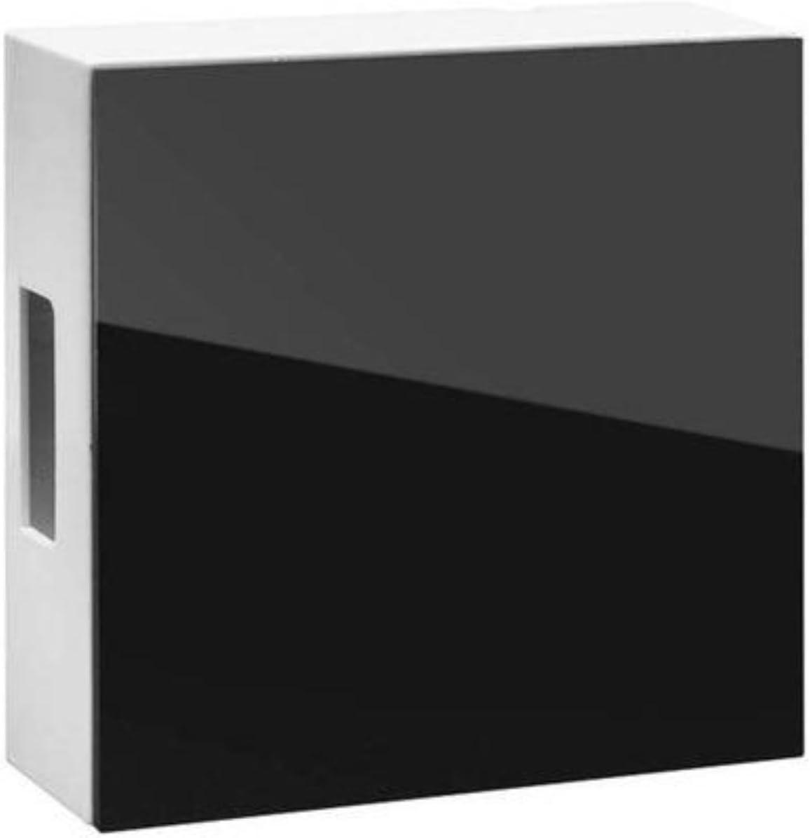 Grothe Zweiklang Gong - Klangplatten aus Glockenstahl hochglänzende Oberfläche - Transformer/ 9V Blockbatterie - (Schwarz)