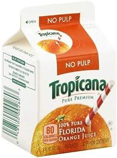 Pepsico Tropicana Pure Premium Original Orange Juice, 6 Ounce -- 48 per case.