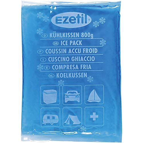 EZetil Soft Ice, 800g Flexibles Kühlelement für die Kühltasche Oder Kühlbox, sowohl zum Kühlen von Lebensmitteln als auch zum Kühlen von Sportverletzungen, Blau