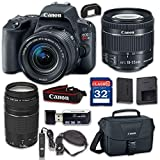 Canon EOS Rebel SL2 Digital SLR Camera & EF-S 18-55mm f/4-5.6 is STM Lens, EF 75-300mm f/4-5.6 III - WiFi Enabled with 32GB Class 10 Memory Card, Wired Remote & 100ES Shoulder Bag
