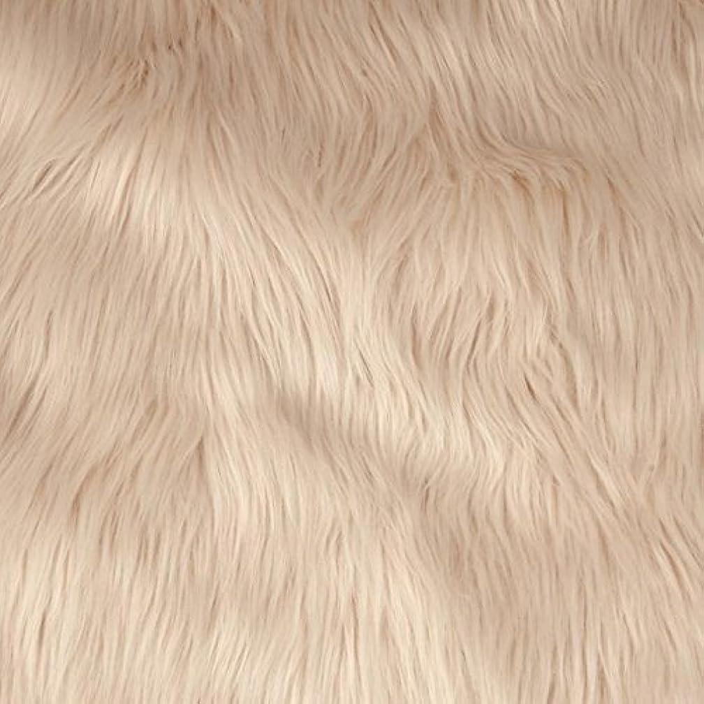 Faux/Fake Fur Shaggy Beige Fabric by The Yard