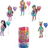 Barbie Chelsea Color Reveal Fiesta, muñeca sorpresa de cumpleaños con accesorios de moda de juguete y globo (Mattel GTT26)