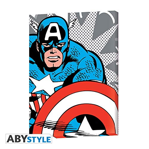 AbyStyle Abysse Corp _ abydco462 Marvel - canvas - Captain America Pop Art (30 x 40) X2