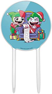 GRAPHICS & MORE Acrylic Harley Quinn and Joker Naughty List Cake Topper Party Decoration for Wedding Anniversary Birthday Graduation