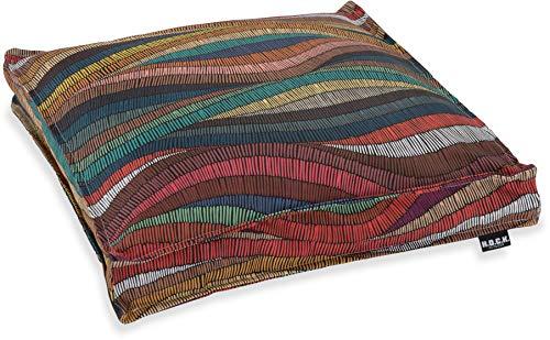 H.O.C.K. Peggy Multicolour Outdoor Kissen und Sitzkissen mit Biese bunt Design wasserabweisend/lichtecht für den Garten (Sitzkissen 40x40x5cm, bunt Design)