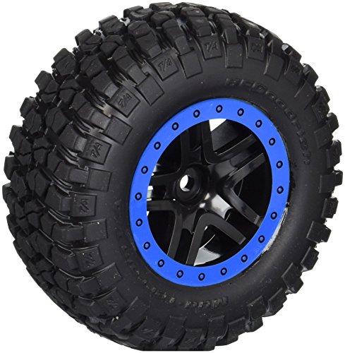 Traxxas 5883A BF Goodrich Mud Terrain Tires, Pre-Glued on Split Spoke Wheels (Pair)