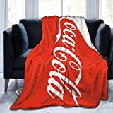 TILLIEE Warm, Lightweight, Super Soft and Comfortable Coca-Cola Flannel Blanket, Used for Outdoor Travel and Bed Sofa 60'X50'