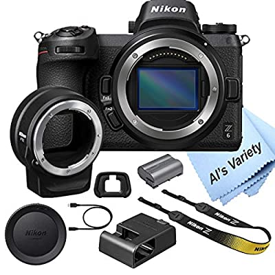 Nikon Z6 FX-Format Mirrorless Camera Body with Mount Adapter FTZ from Nikon intl