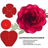 Large Petal 39 Paper Flower Rose Template/Stencils