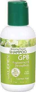 Aubrey GPB Balancing Protein Shampoo | Replenishes, Strengthens & Nourishes Damaged Hair | Aloe & Shea Butter | 75% Organic Ingredients | 2oz