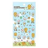 Kakao Cute Friends Little Friends Clear Sticker Diary Planner Deco Sticker (Kakao Little Friends Park (Blue))