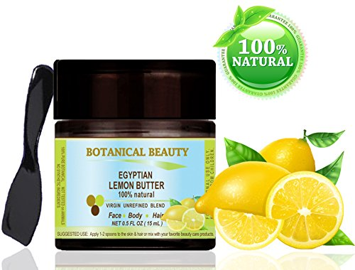 LEMON BUTTER EGYPTIAN 100 % Natural / 100% PURE BOTANICALS. VIRGIN / UNREFINED BLEND. 0.5 Fl.oz.- 15 ml. For Skin, Hair and Nail Care. One of the richest natural sources of vitamin E, omega 3 and lec
