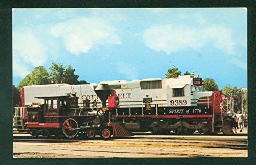 Southern Pacific Cotton Belt Spirit of 1776 CP Huntington Railroad Postcard