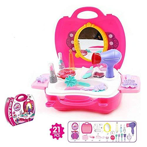 Outtybrave Kinder Spielzeug-Kommode, Kosmetikkoffer für Mädchen