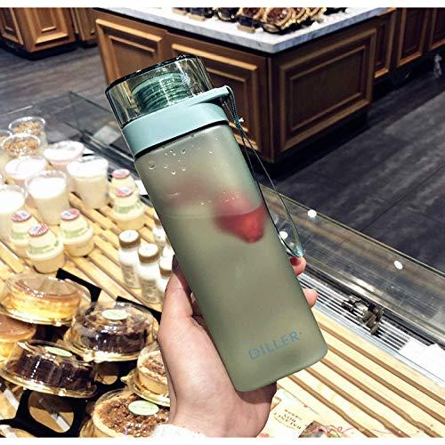 MSNLY Einfache gefrostete quadratische Plastikbecher tragbare männliche und weibliche Studenten lässige Tasse kreative Trend Sport Fitness Netz rote Tasse