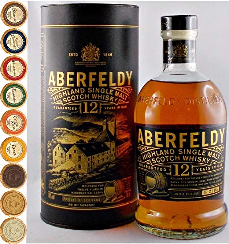 Aberfeldy 12 Jahre Single Malt Whisky + 9 Edel Schokoladen in 9 Sorten