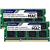 Timetec 8GB KIT(2x4GB) Compatible for Apple DDR3 1067MHz / 1066MHz PC3-8500 for Mac Book, Mac Book Pro, iMac, Mac Mini (Late 2008, Early/Mid/Late 2009, Mid 2010) MAC SODIMM Memory RAM Upgrade