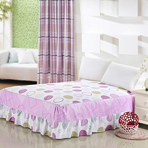 JRDTYS Microfibre Fitted Sheet | No-Iron Bottom Sheet with Strong Elastic Hem to Fit Snugly Around Your MattressBed skirt cotton printed single piece-14_150-200cm