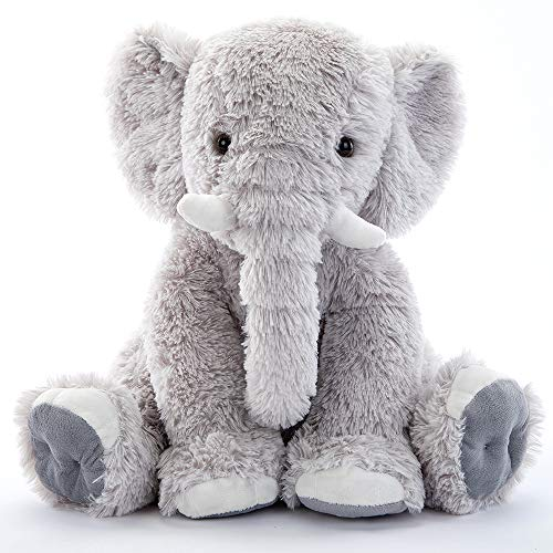 MaoGoLan Gray Stuffed Elephant Soft Stuffed Animal Plush Toy 20''