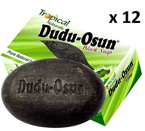 Sapone nero africano naturale puro tropicale Dudu Osun - Confezione da 12