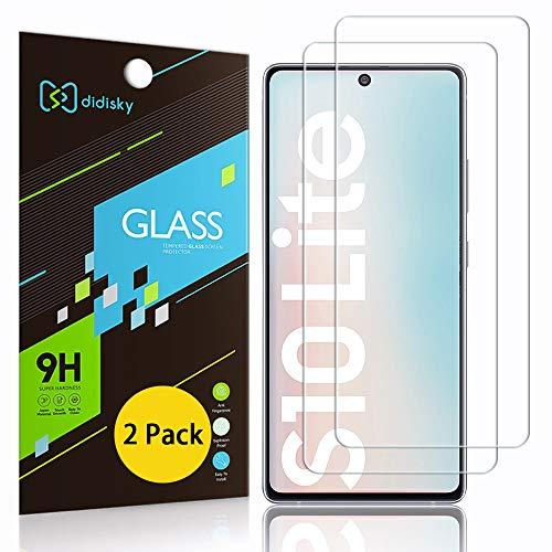 Didisky Pellicola Protettiva in Vetro Temperato per Samsung Galaxy S10 Lite, [2 Pezzi] Protezione Schermo [Tocco Morbido ] Facile da Pulire, Facile da installare, Trasparente