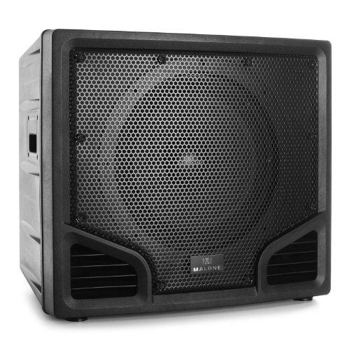 Malone PW-24115-SB PA Subwoofer Bühnen und-Konzert-Lautsprecher (Passivbox, 300 Watt RMS, 38cm Tieftöner, 2 Etagen-Top-Hat-Flansch) schwarz
